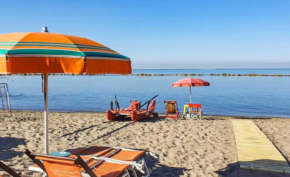 Spiaggia Convenzionata Camping Partaccia 2 a Marina di Massa